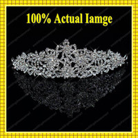Crown Rhinestone/Crystal  FreeShipping Luxury Rhinestone Crystals Bling Bling Bridal Tiara Wedding Accessories Hair Decoration