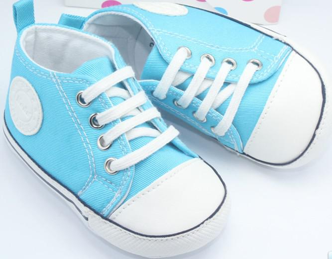 Baby Boys Shoes Lace Up Shoes Light Blue Color Baby Girls Shoes Baby