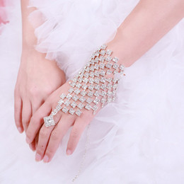 Wholesale 2013 New Arrival Luxury Crystal Bridal Bracelet Rhinestone Stuning Formal Wedding Bracelet With Ring