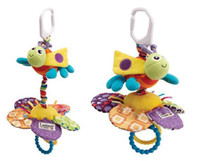 Wholesale Hot sale super cute baby toy rattle lamaze sunflower bee shaped multifunctional bed bell bed ring