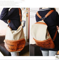 Wholesale Canvas bag Letters shoulder Mobile Messenger bag backpack students lovely school bag