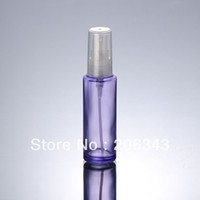 Wholesale 50ml transparent purple glass spray bottle with transparent spray for cosmetic Packaging
