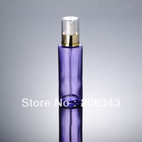Wholesale 100ml transparent purple glass bottle lotion bottle Cosmetic Packaging glass bottle