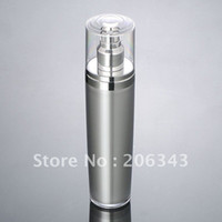 Wholesale 100ml SILVER press pump lotion bottle cosmetic container Cosmetic Packaging