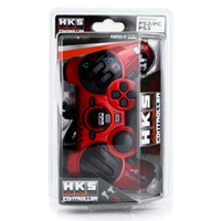 Wholesale 2012 New Arrival Red Wired Vibration Racing Game Controller for PS3 PS2 and PC Steering Racing Wheel