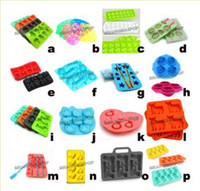 Wholesale Silicone Mould Marker Ice Cube Tray Jelly Mold Titanic Gun Fish Skull Star Shape
