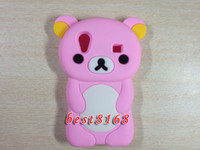 Wholesale Rilakkuma teddy bear cute Soft silicone Case for Samsung Galaxy ACE S5830 cartoon skin cases