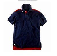 Designer Mens Polo Shirts 100%cotton Short Sleeve Classic- Fi...