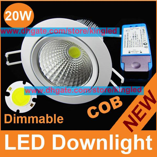 20w Led Dimmable: Bright New Led 20w Down Light Dimmable Led Cob Downlights