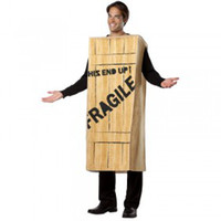 Wholesale Fragile Wooden Crate advertising Adult ADULT SIZE CARTOON MASCOT Suit Halloween and Christmas