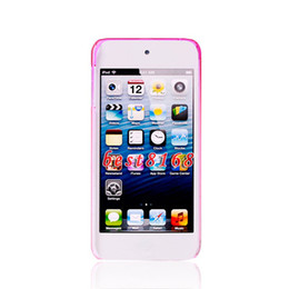 Wholesale Raindrop water drop dual tone Hard plastic Case transparent skin cases For Ipod touch th
