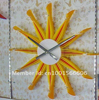 Wholesale Xhome Wall Clock Modern Home Kitchen Decoration Great Gift Rainbow Tulips in Holland