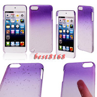 Wholesale Raindrop water drop dual tone color Hard plastic Case skin cover cases For Ipod touch th