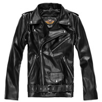 Wholesale cheapsneakers Store The Davidson Harley rock men s jacket fur leather motorcycle Harley PY01