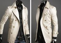 Wholesale trench coat KINGTIME Men s Coat Casual Cotton dust Casual men s Size M XXL BEIGE