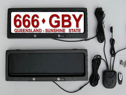 Wholesale Australia Size Stealth Remote Control Auto Car License Plate Frame EMS or DHL freeshipping