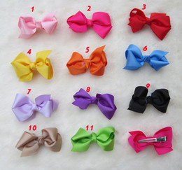 Grosgrain Bows with double prong clips covered hairpin Bows Baby Hair bow ribbon bows headband