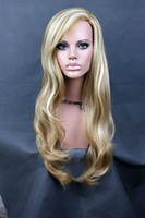Wholesale Long Blonde Falls half wig Extension Hair Piece Synthetic Hairpiece