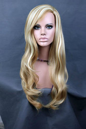 Wholesale new fashion girl Synthetic Wigs women party Long Blonde Falls half wig Extension Hair Piece Synthetic Hairpiece