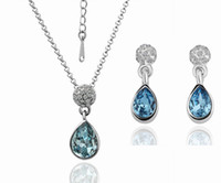 austrian holidays - Christmas holiday sale K Gold Plated Austrian Crystal Jewelry sets Plating Platinum KS065