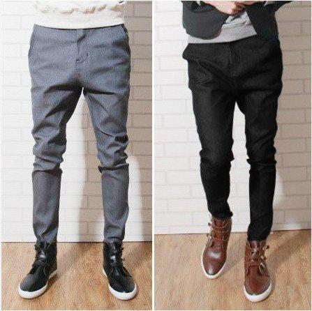 2017 Fashion Slim Fit Men's Cotton Harem Pants, Casual Male Middle ...