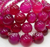 Wholesale DIY handmade jewelry mm natural gemstone beaded crystal cherry red roses red agate beads