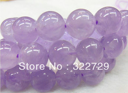 10mm Natural amethyst gemstone loose beads beaded material DIY bracelet jewelry accessories 114 lot