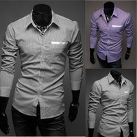 Wholesale Mens Striped Shirts Men Dress Clothing Stylish Luxury Casual Designer Men s Shirt MS129