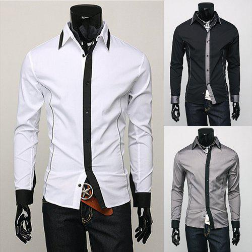 Best mens shirts sale business party slim handsome cool for Mens business shirts sale