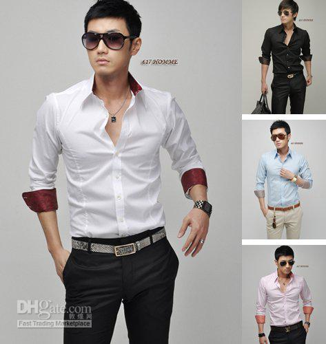 Outfits With White Shirts Men White Men's Shirt Ms068