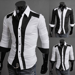 Wholesale Men Fashion Clothing Men s Handsome Shirt Dress Mens Shirts Men Striped Shirt MS271