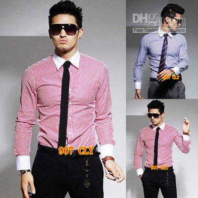 Cool Clothes Shopping Men 's Short-sleeved V-neck T -shirt Korean