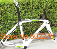 Wholesale FR308P Full Carbon k Road Bike Green white Frame Fork seatpost clamp alloy headset cm frame
