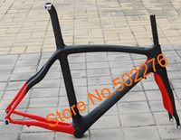 Wholesale FR308P1 Full Carbon k Matt Road Bike Red Frame Fork seatpost clamp alloy headset FRAME cm
