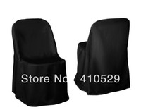 Wedding Chair 100% Polyester  black polyester chair cover Free Shipping Folding chair covers Beach chair cover