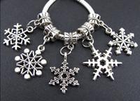 Metals tibetan beads - 142 Tibetan Silver Mix Snowflake Charms Big Hole Beads Fit European Bracelet Jewelry DIY