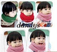 Wholesale Child muffler scarf thermal winter cotton yarn knitted muffler scarf child scarf