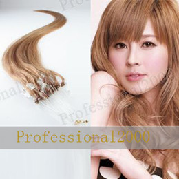 Wholesale 12 quot g pc Remy Human Hair Loop Micro Ring Hair Extensions