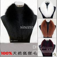 Wholesale 100 Real Raccoon Fur Collar Women s Neck Warmers Fur Scarf Big size Shearling for Down Coat