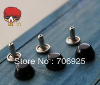 Wholesale cm punk spike rivets black bucket diy bag shoese accessories pieces