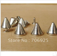 Wholesale punk silver color bullet rivet clothing metal DIY accessories pieces