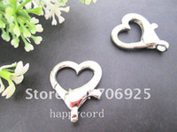 Wholesale silver Plated Love Heart Lobster Clasps mmx27mm
