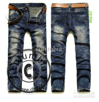 Wholesale 2012 New Men s JEANS Style Brand New Classic Design Trousers Men s Jeans Size