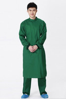 Wholesale Hospital classic medical men doctor long sleeve scrub uniform set