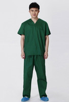 Wholesale Hospital classic summer medical men doctor short sleeve scrub uniform set