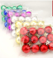 Wholesale 4cm Christmas Ball Plating Ball Christmas Decorations Christmas Tree Ornaments Color Ball bag