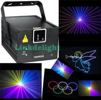 Wholesale DHL RGB mw W full color animation laser Stage Lighting ilda kpps Red nm Beam Disco laser
