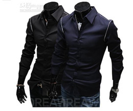 Wholesale New Arrival Men new men s Slim navy gib Men simple shirt men s shirt