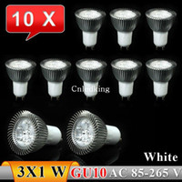Wholesale 10x GU10 W LED Spot Light Bulbs Lamp White X1W High Brightness V