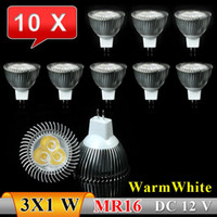 Wholesale 10x MR16 W LED Spot Light Bulbs Lamp Warm white X3W High Brightness DC V